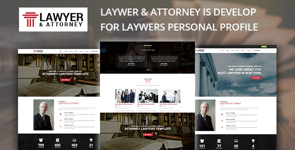 Lawyer & Attorney - Lawyers HTML Template - Business Corporate