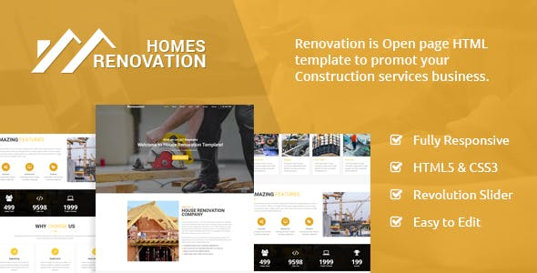 Homes Renovation - Landing Page