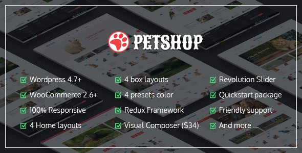 VG Petshop - Creative WooCommerce theme for Pets and Vets - WooCommerce eCommerce