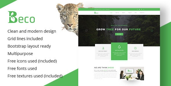 Beco - Multi-Purpose & Ecology Company Template - Environmental Nonprofit