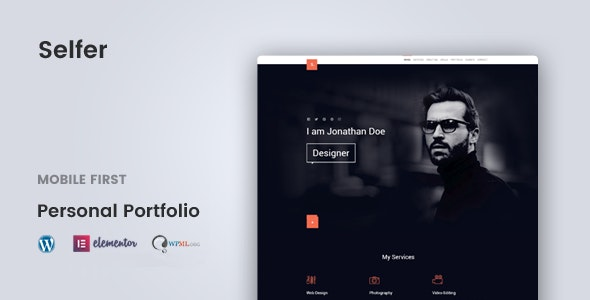 Selfer v1.2.4 Nulled – Minimal Personal Portfolio WordPress Theme