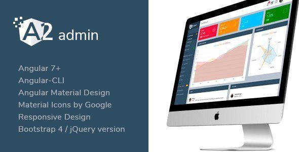 A2 Admin - Angular 7+ Material Design Admin Template by next-item