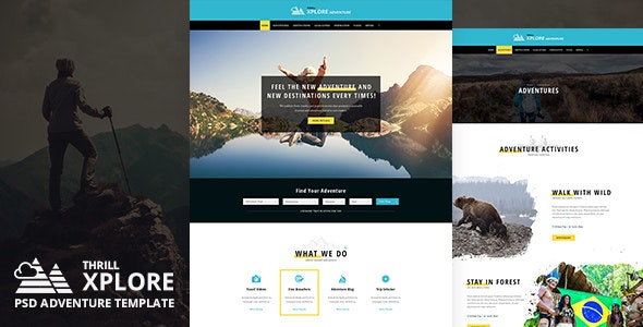 Xplore - Adventure and Travel PSD Template - Travel Retail