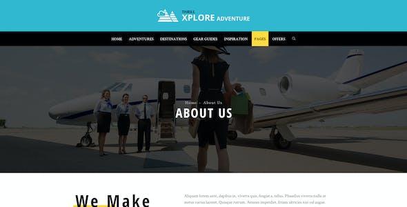 Xplore - Adventure and Travel PSD Template