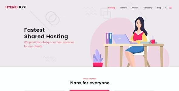 Hybrid Host - WebHosting PSD Templates
