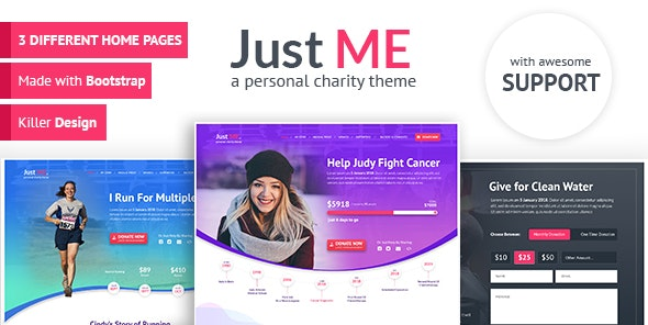 Just Me - Your Personal Charity, Donation or Fundraiser Template - Charity Nonprofit