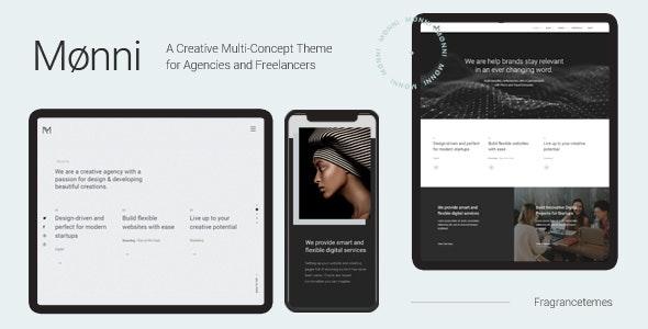 Monni - A Creative Multi-Concept Theme for Agencies and Freelancers - Creative WordPress