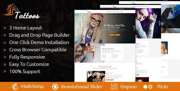 Tattoos - WordPress Theme - Art Creative