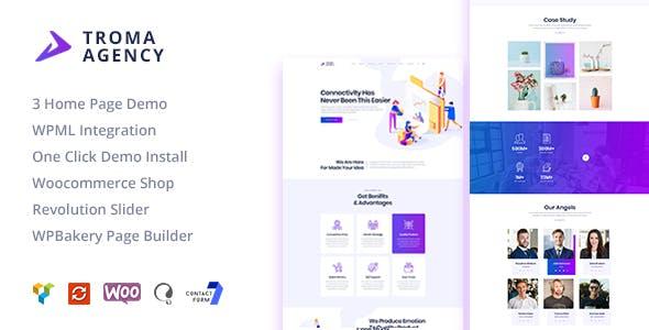 Troma - Creative Digital Agency WordPress Theme