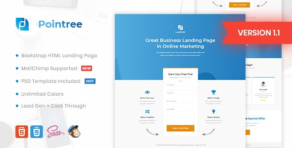 Pointree - Business HTML Landing Page Template - Marketing Corporate