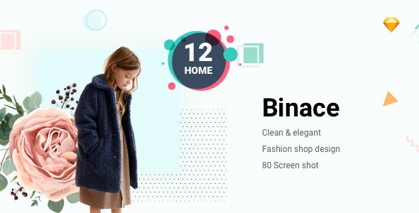 Binace - Fashion eCommerce Sketch Template - Sketch Templates