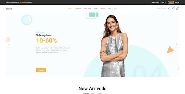 Binace - Fashion eCommerce Sketch Template