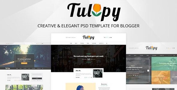 TULIPY – Creative & Elegant PSD Template for Blogger - Personal PSD Templates