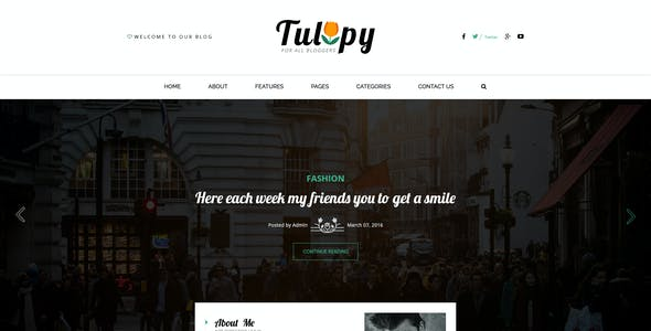 TULIPY – Blogger PSD Template