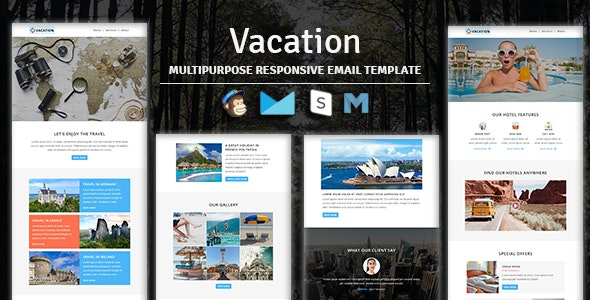 Vacation - Multipurpose Responsive Email Template - Newsletters Email Templates