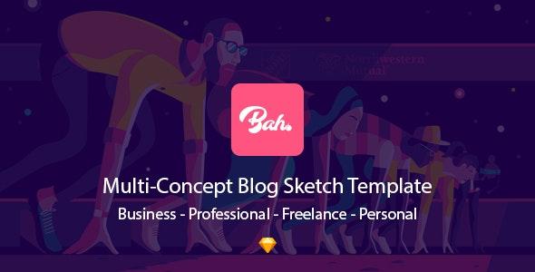 Bahram l Sketch Blog Theme - Sketch UI Templates