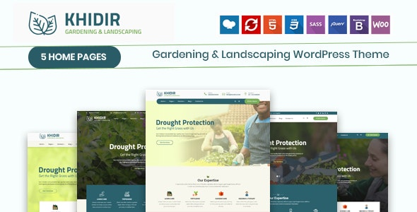 Khidir - Gardening & Landscaping WordPress Theme - Business Corporate