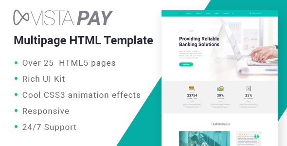 VistaPay - Bank Multipage HTML5 Template - Business Corporate