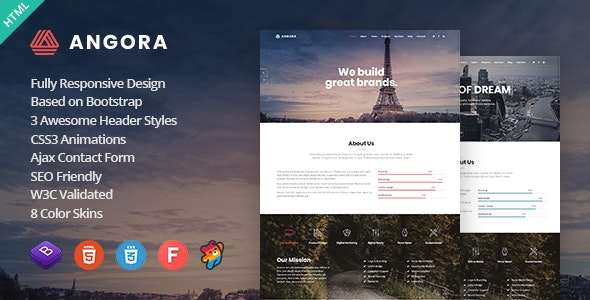Angora - Responsive One Page Parallax Template - Creative Site Templates