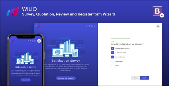 Wilio - Survey and Multipurpose Form Wizard - Specialty Pages Site Templates