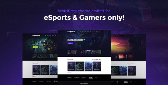 Tournament Gaming Website Templates From Themeforest