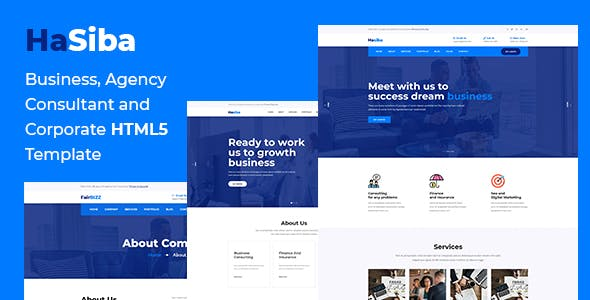 Hasiba - Corporate and Business HTML5 Template
