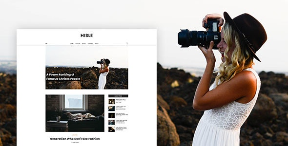 Hisle - Personal Blog PSD Template - Personal Photoshop