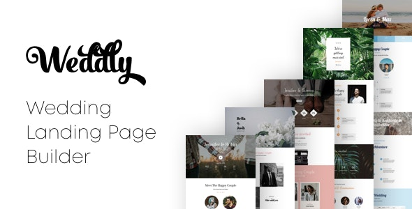 Weddly - Wedding Landing Pages with Page Builder - Landing Pages Marketing
