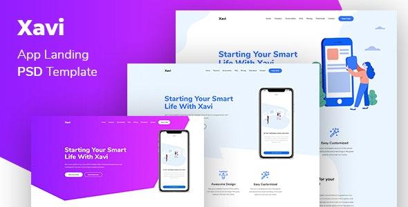 Xavi - App Landing Page - Technology Photoshop