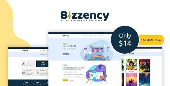 Bizzency - Corporate/Agency HTML Template - Site Templates