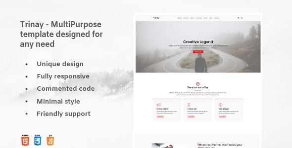 Trinay - One Page Multipurpose Template - Corporate Site Templates