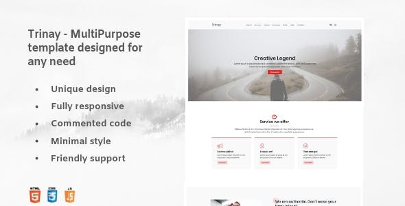 Trinay - One Page Multipurpose Template