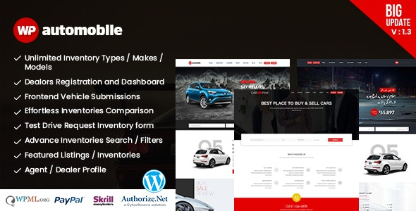 AutoMobile | Responsive Car Dealer WordPress Theme - Directory & Listings Corporate