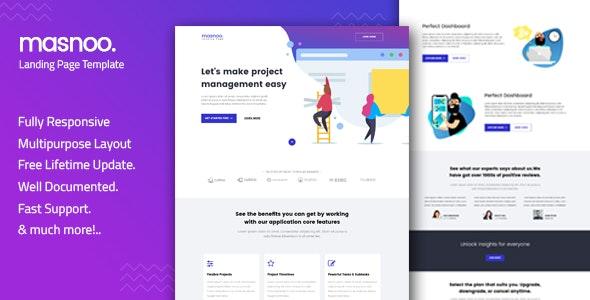 Masnoo — Multipurpose Landing Page Template - Creative Landing Pages