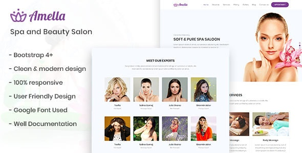 Amella - Spa and Beauty Salon Template - Health & Beauty Retail