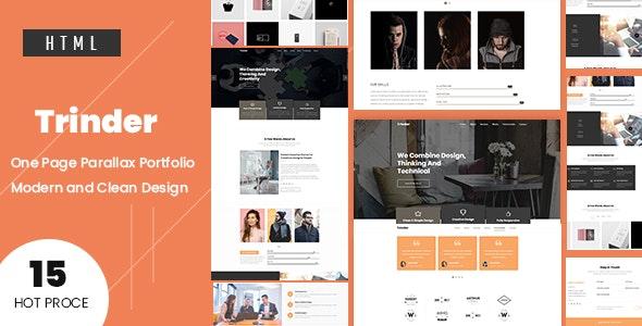 Trinder -  One Page Parallax Template - Portfolio Creative