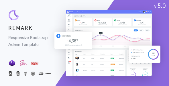 Remark - Responsive Bootstrap 4 Admin Template - Admin Templates Site Templates