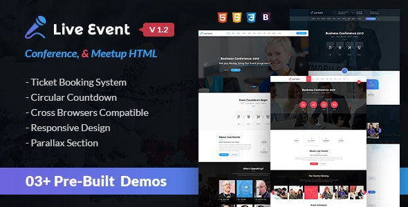 Live Event - Conference & Meetup HTML Template - Events Entertainment