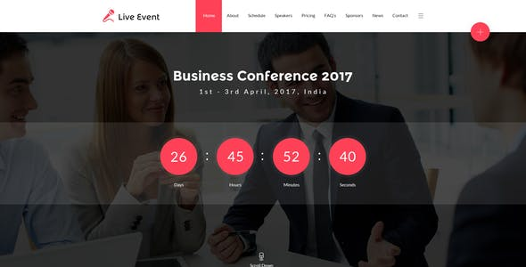 Live Event - Conference & Meetup HTML Template