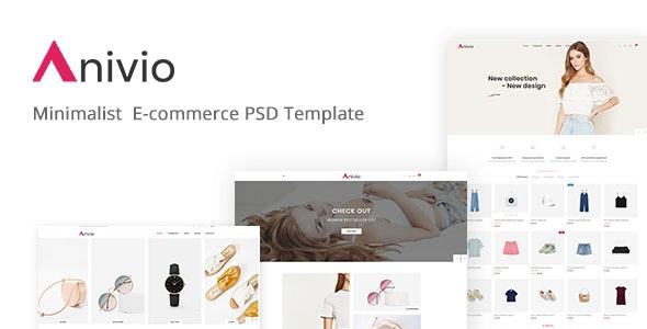 Anivio - Minimalist E-commerce PSD Template - Fashion Retail