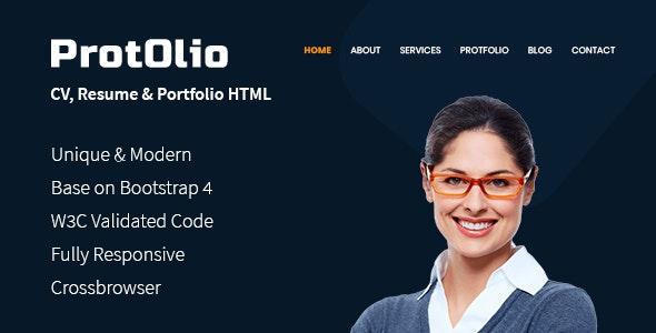 PortOlio- CV, Resume Personal Portfolio HTML Template - Portfolio Creative