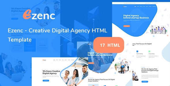 Ezenc - Digital Agency HTML Template - Business Corporate