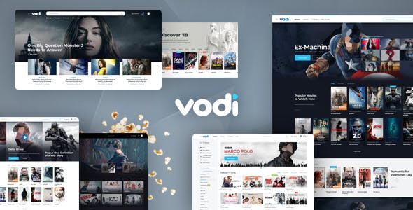 Vodi - Video Streaming and Magazine PSD Template