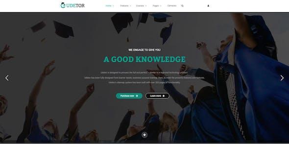 Udetor - LMS Education WordPress Theme