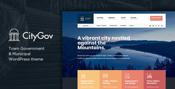 CityGov - City Government & Municipal WordPress Theme