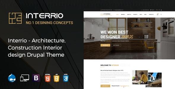 Interrio – Architecture, Construction, and Interior Design Drupal Theme