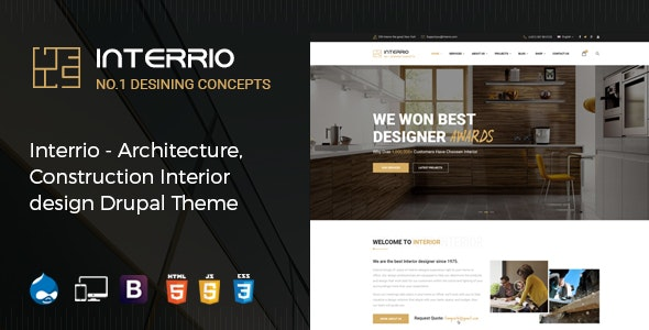 Interrio - Architecture, Construction, and Interior Design Drupal Theme - Business Corporate