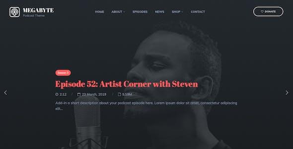 Megabyte - Podcast/Audio WordPress Theme
