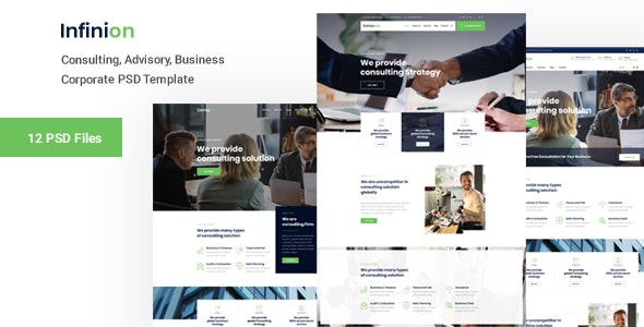 Infinion -  PSD Template For Consulting Business - Business Corporate