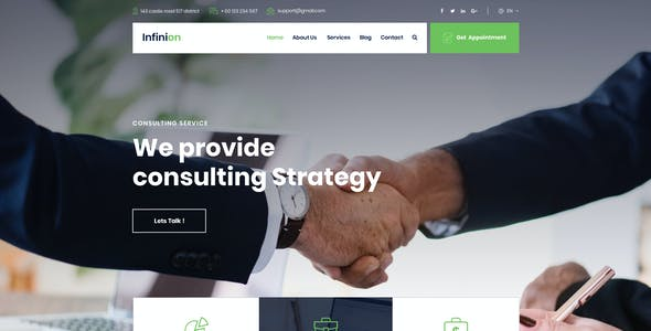 Infinion -  PSD Template For Consulting Business